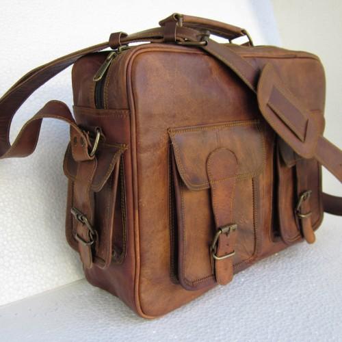 Vintage Goat Leather Carry Bag