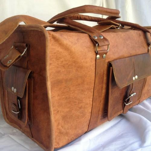 Goat Leather Duffel Bag