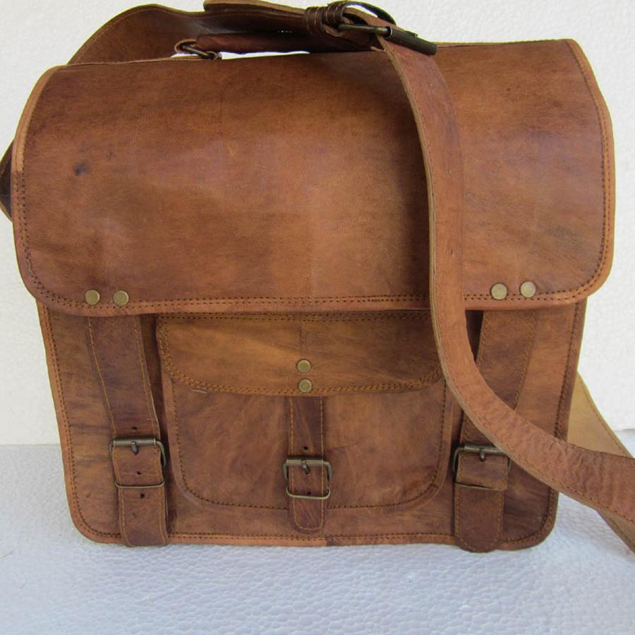 Old School Satchel Laptop Bag