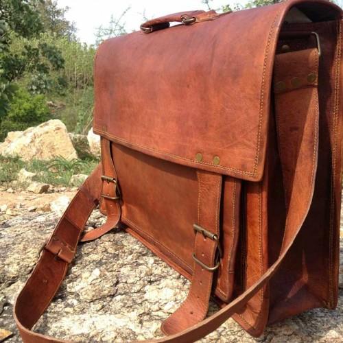 Vintage Satchel Laptop Bag