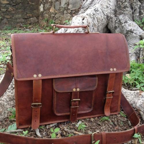 Classic Leather Satchel
