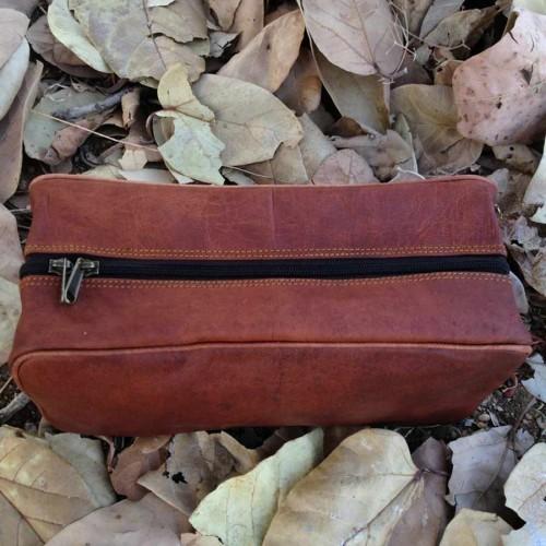 Retro Shaving Kit Bag